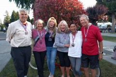 Happy Sequim Picklers WinnersRobert, Patricia, Katinka, Lynda, Ruby, Charlie